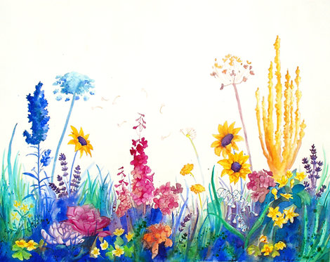 "Print of ""Wildflower Field"""
