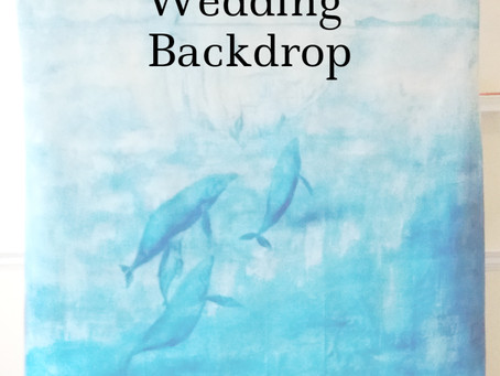 How To Make a Hand-Painted Wedding Backdrop (styled shoot Part 2)