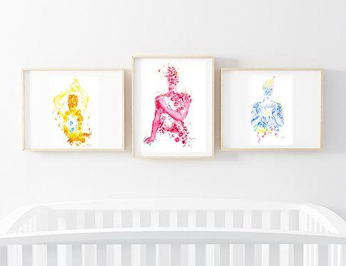 Set of 3 Enneagram prints - You Choose