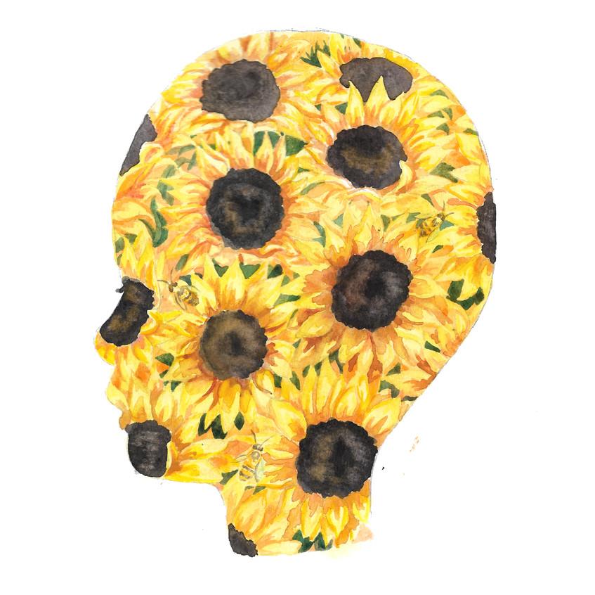 Sunflower silhouette
