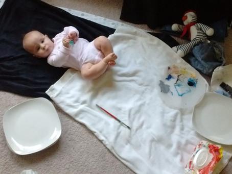 DIY Baby Footprint LOVE plates