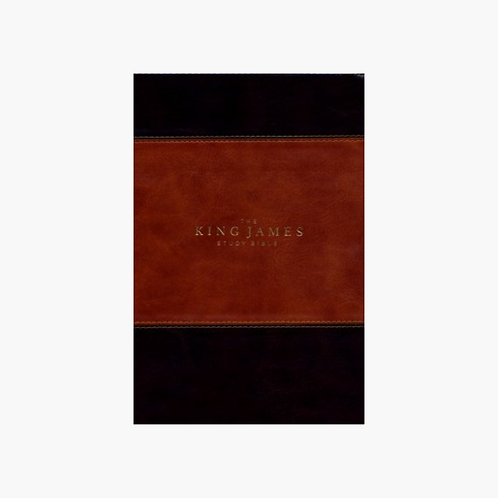 KJV Study Bible (Full-Color) - Brown/Dark Brown Leathersoft Indexed