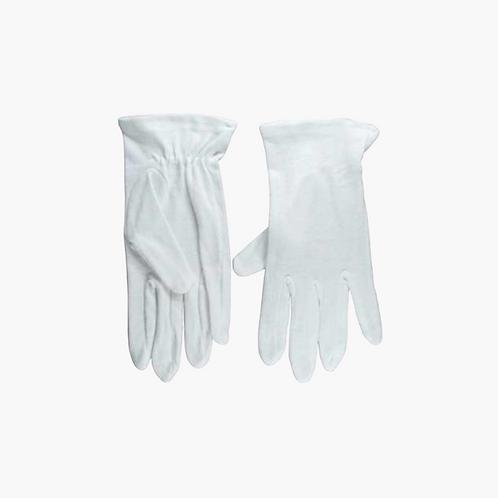 Gloves, White, Large