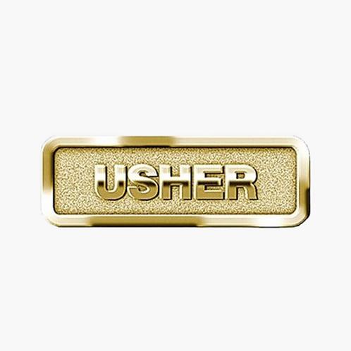 Usher Badge, Brass