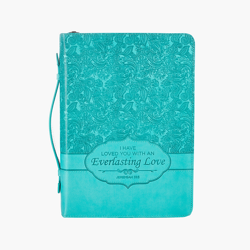 Everlasting Love, Bible Cover, Turquoise, Large