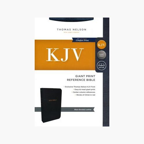 KJV Comfort Print Reference Bible, Giant Print, Bonded Leather, Black