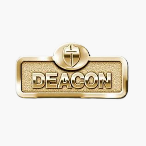 Deacon Badge with Cross, Brass
