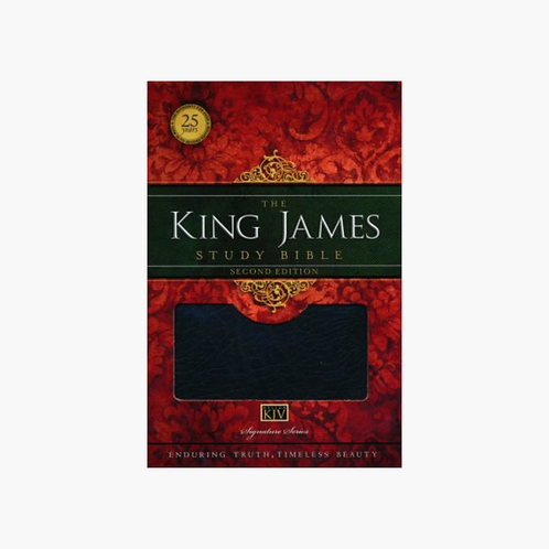 King James Study Bible, Second Edition, Bonded Leather, Black