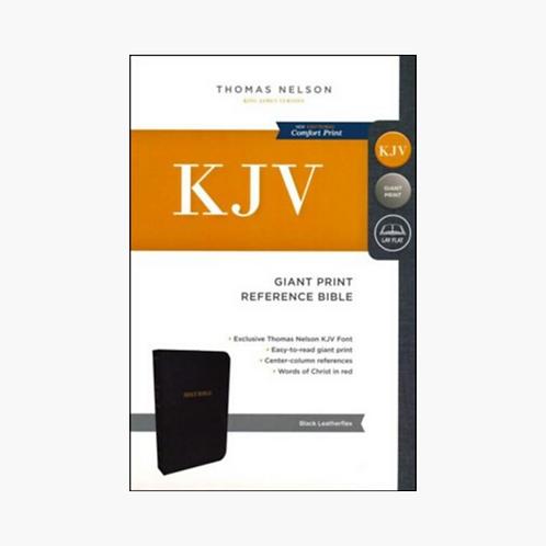 KJV Reference Bible, Giant Print, Leather-Look Black