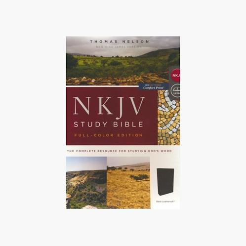 NKJV Study Bible (Full-Color) (Comfort Print) - Black Leathersoft