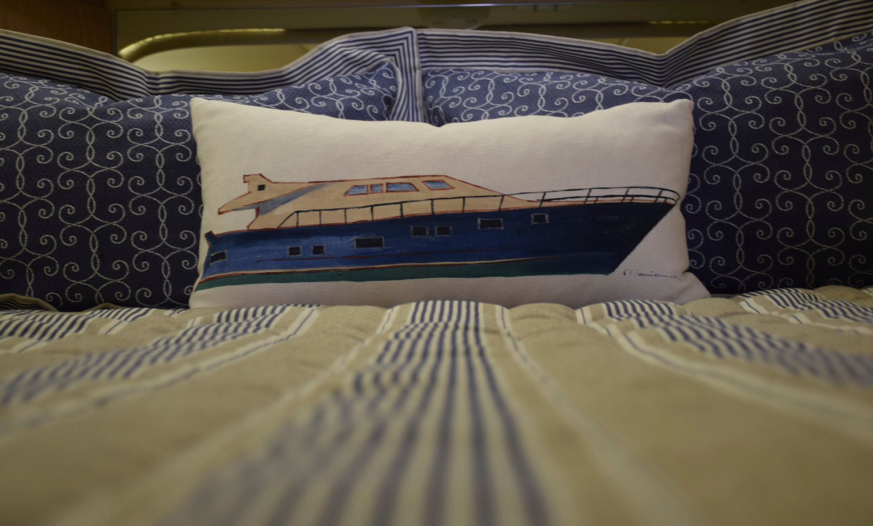 Power Boat Pillow