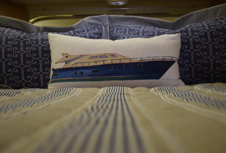Power Boat Pillow