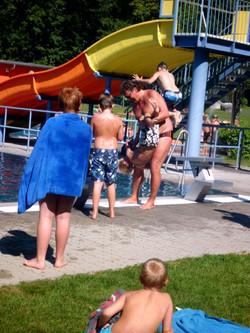Spaß beim Schwimmen