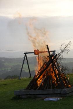 Lagerfeuer letzter Abend