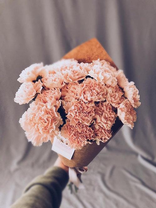 21 диантус нежно-розовые