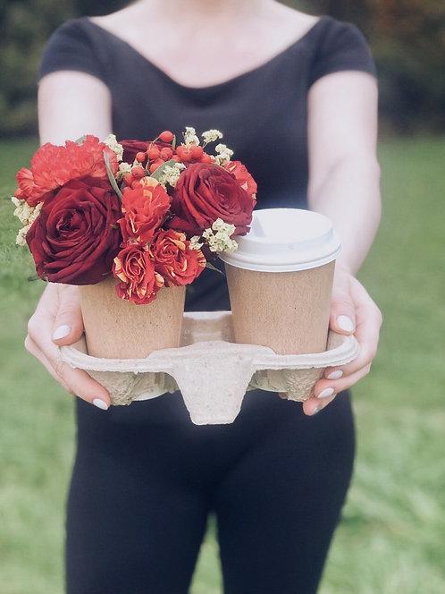 Цветы с кофе