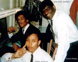 Jimmi Hendrix, Calvin Dukes, Jimmi Mayes, Buffalo, 1965