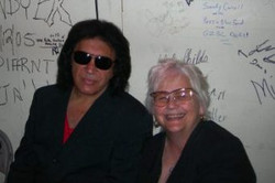 Gene Simmons and Carol Marble