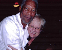 Carol Marble and Morgan Freeman