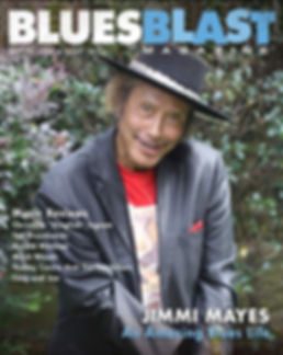 Jimmi on Cover of Blues Blast Magazine.j