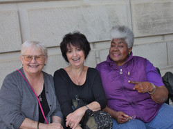 Carol Marble, Peggy Brown and Dorothy Mo