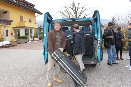 Packing the van in Italy
