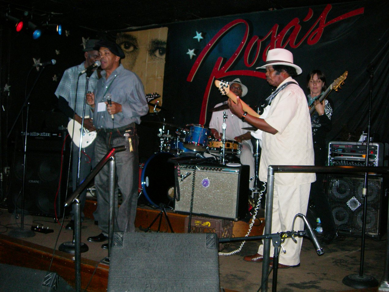 Mickey Rogers and Suger Blue at Rosas in
