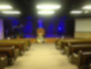 Sanctuary before remodel at Grace Harbor Lighthouse Church of God
