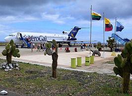 La isla Baltra recibe todos nuestros visitantes par conocer la isla Santa Cruz