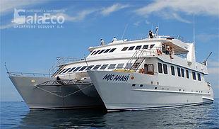 La mejor manera de conocer Galapagos es viajando en barco Catamaran Anahí