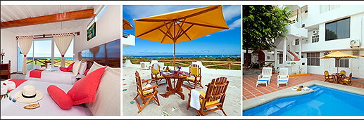 Paquetes con alojamiento en hotel Galápagos Inn