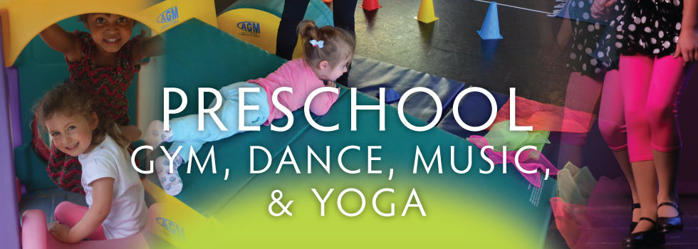 Children learning and playing in Gym and Yoga programs
