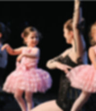 Child dancer performing ballet