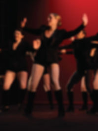 Teens performing tap dance