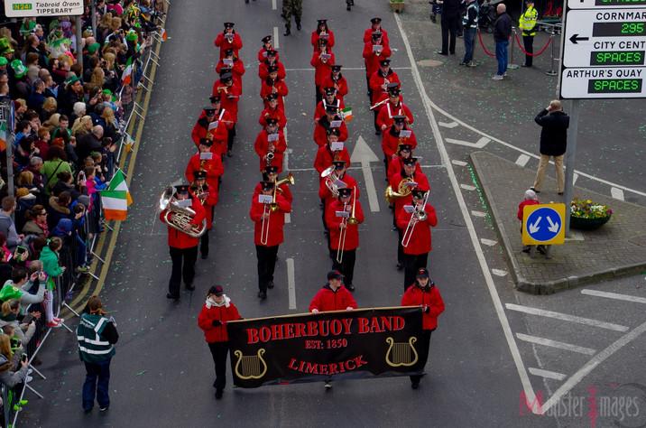 Band in Limerick St Patricks Day Parade