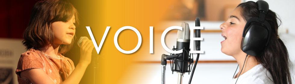 Children taking voice lessons