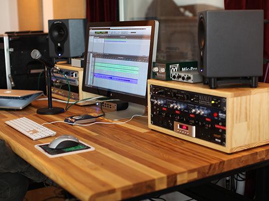 Music Editing setup at Enchanted Garden Studio Two