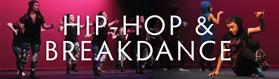Group of kids learning and performing hip-hop and breakdancing