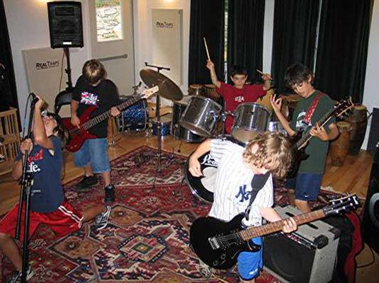 Kids performing in Music Instruction Studio