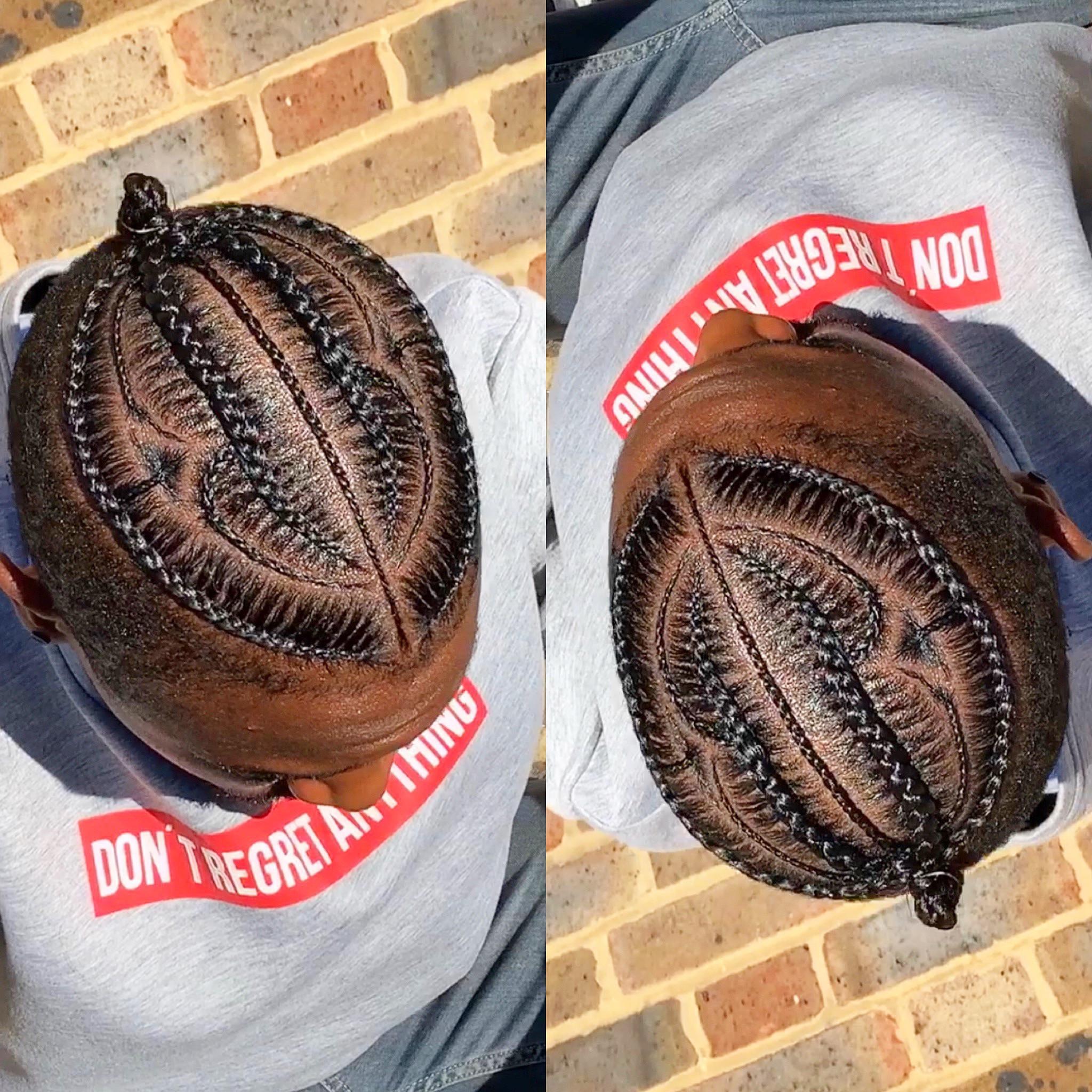 Men's Cornrows Natural Hair