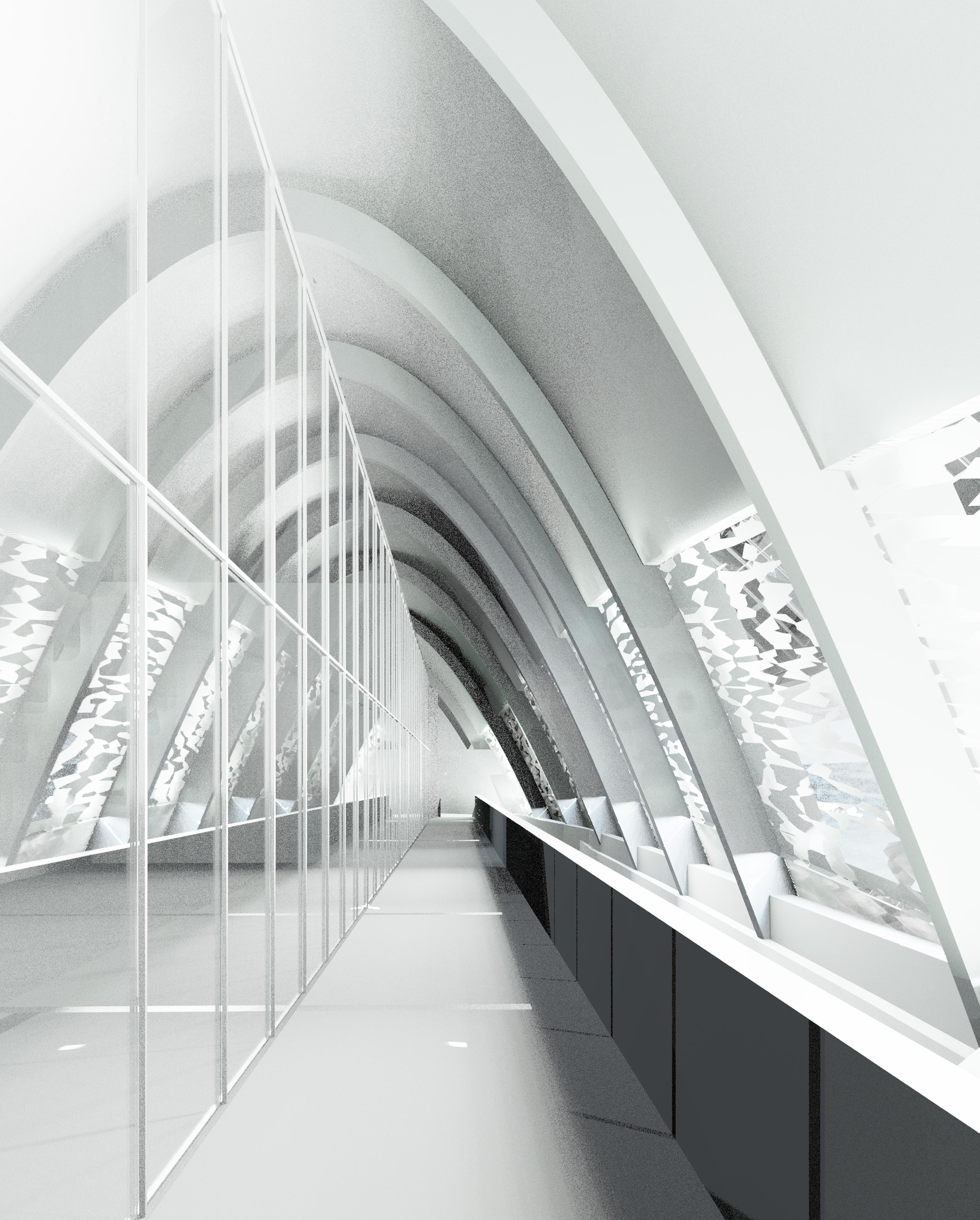 Kristine Merkel - interior walkway
