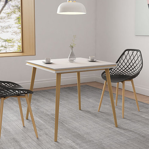 """Blythe Dining Square Table 31.5"""" + Kurv Dining Chair 2 pack"""
