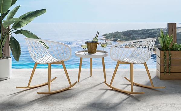 Affordable outfoor furniture. Jamesdar Rocker chair set.