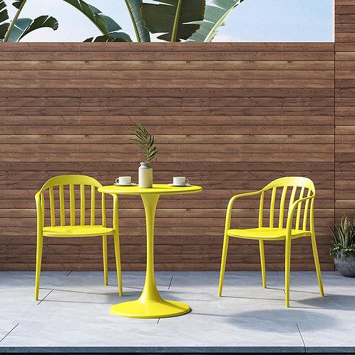 Bistro Table + Barton Chair Set - Yellow
