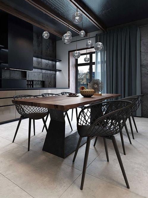 Kurv Chair - Black/ Black ( 2 Pack )