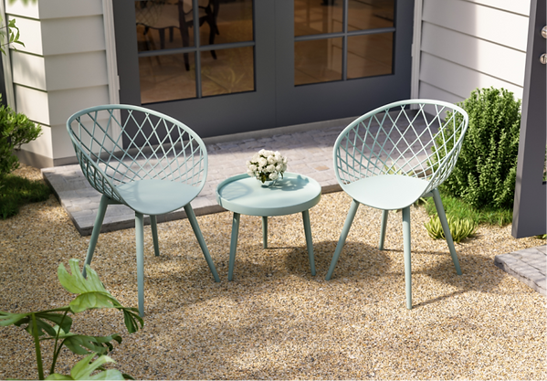 Affordable outfoor furniture. Jamesdar Kurv chat set.