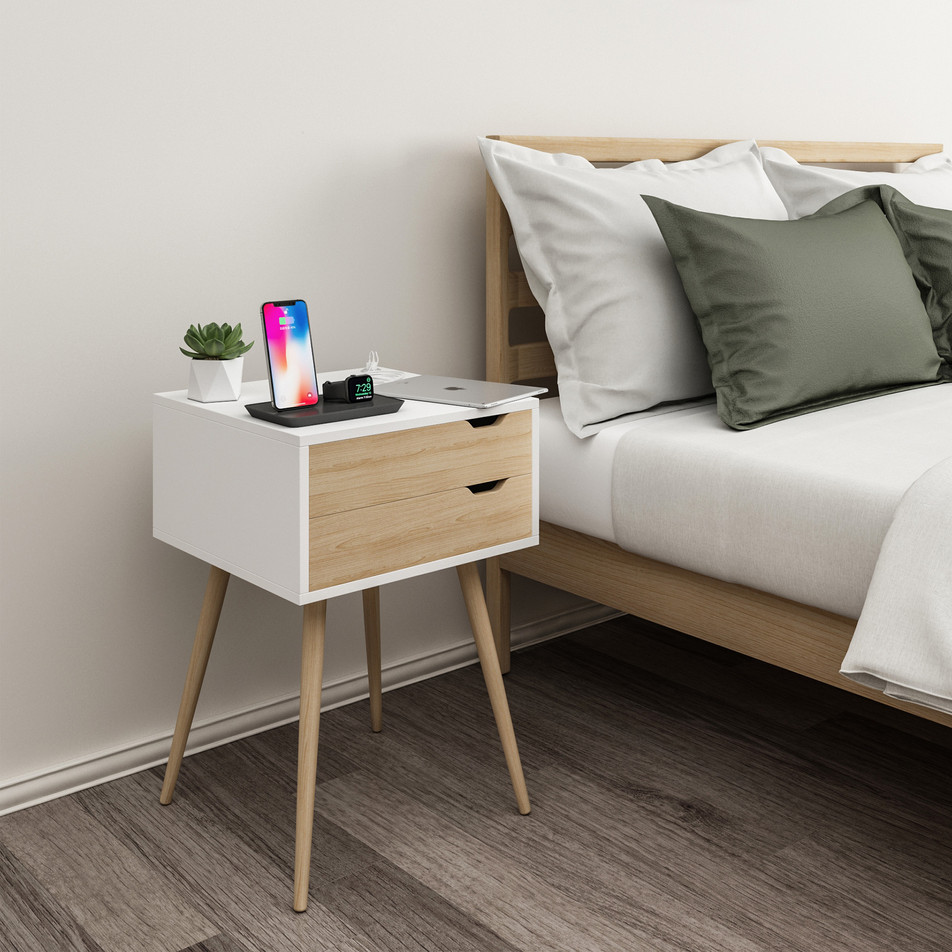 Blythe Side Table with Power