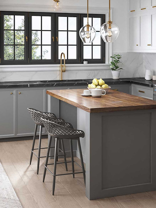 Kurv Counter Stool - Warm gray/ Warm gray ( 2 Pack )