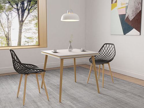 Kurv Dining Chair - Black ( 2 Pack )