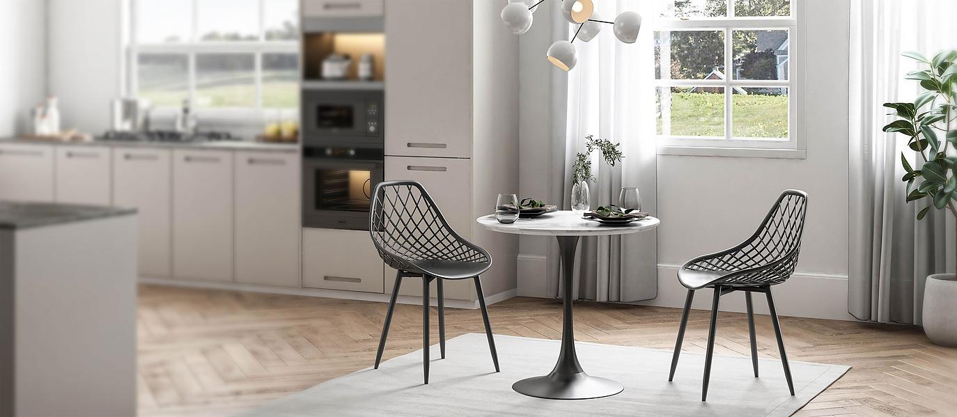 Jamesdar Kurv dining chairs and Kurv Cafe table set